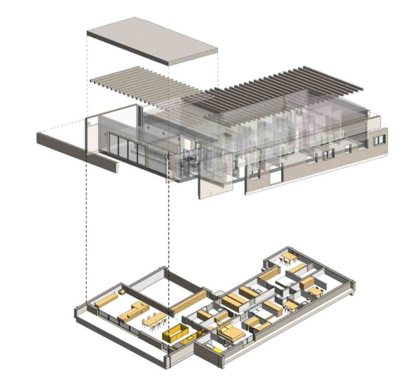 Visualizzazione casa in legno con Revit