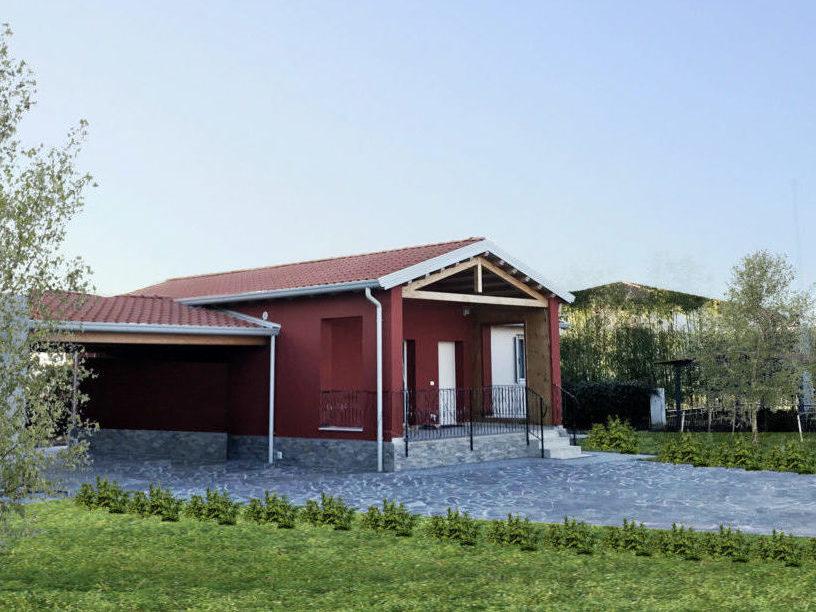 Casa passiva in legno ad un piano