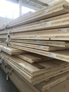 Pannelli di XLam appena prodotti