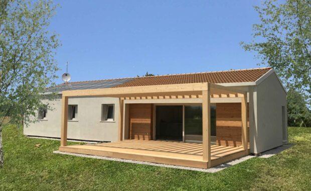 Casa in legno tricamere ad un piano