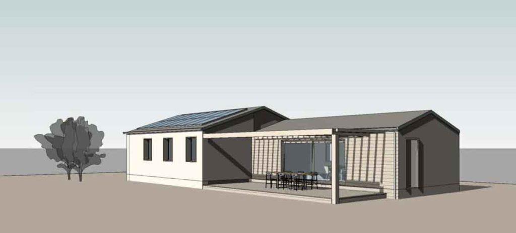 Casa in legno a sviluppo linearee
